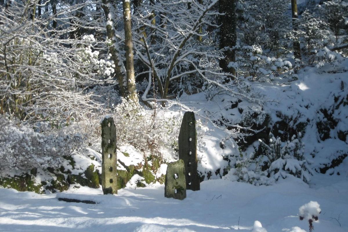 Quarry in Snow